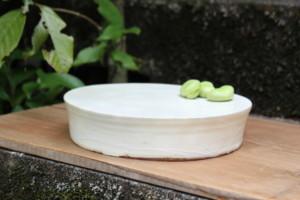 粉引台皿(19.2cm)横から画像